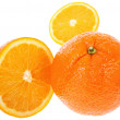 Fresh juicy oranges — Stock Photo