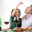 Romantic dinner - Stock Photo