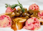 Prato de filé de carne de porco — Foto Stock
