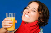 Pain thirst juce throat — Stock Photo