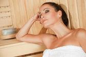 Female sauna — Stock Photo