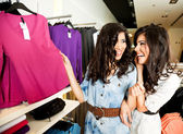 Sisters shopping — Stock Photo