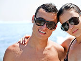 Young couple sea — Stock Photo