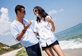 Couple beach summer — Stock Photo