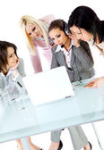 Women team working togather — Stock Photo
