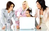 Strategy businesswomen — Stock Photo