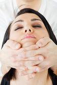 Face neck thai massage — Stock Photo