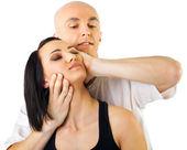 Thaise massage van de nek — Stockfoto