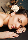 Spa relax female face — Stock Photo