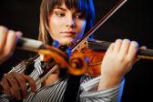 Violinist concert — Stock Photo