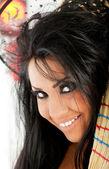 Uśmiechający się portret czarownica — Zdjęcie stockowe