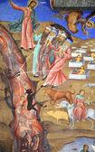 Mozes monastery fresco — Stock Photo