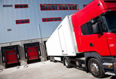 Truck logistics building — Stock Photo