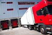 Truck logistics building — Stock Photo