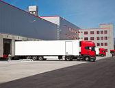 Magazzino camion logistica — Foto Stock