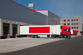 Warehouse truck — Stock Photo