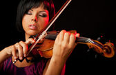 Woman violinist — Stock Photo