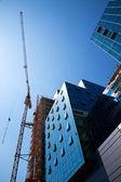 Edifício de escritórios da construção — Fotografia Stock