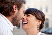 Happy couple laughing — Stock Photo