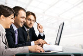 Businesspeople working — Stock Photo