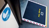 Plate-forme de porte de bus pour poussette — Photo