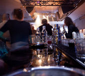 Blurred in a piano bar — Stock Photo