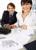 Two smiling business — Stock Photo