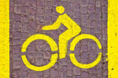 Bicycle line sign — Stock Photo