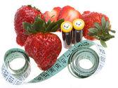 Erdbeer diät — Stockfoto