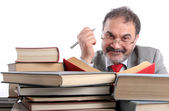 Smiling professor — Stock Photo