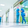 Blurred doctors surgery corridor - Stock Photo