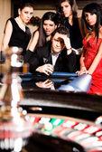 Group zero roulette casino — Stock Photo
