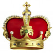 Gold crown - Stock Photo