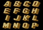 Gold alphabet — Stock Photo