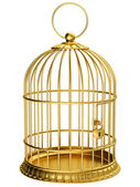 Gold cage — Stock Photo