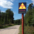 Radioactive contamination sign — Stock Photo