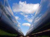 Double pipeline — Stock Photo