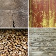 Stock Photo: Set of wood textures