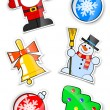 Set sticker for christmas - Stock Vector