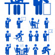 Set informational business icon - Stock Vector