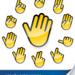 Gesture hand for sticker — Stock Vector #5872412