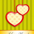 Valentine as two hearts — Stock Vector