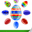 Set easter eggs - Stock Vector