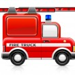 Red fire truck - Stock Vector