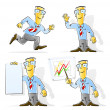 set cartoon zakenman — Stockvector  #5873562