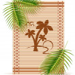Bamboo mat tropic palm - Stock vektor