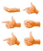Set of gesture arm — Stock Vector