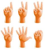 Zestaw gest ręki do konta — Wektor stockowy