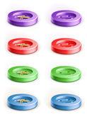Set of coloured button — Stock Vector