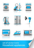Set icon of household appliances — Stock Vector